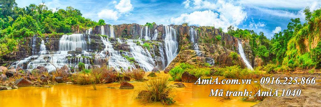 AmiA 1040 - Tranh quê hương thác nước đẹp ở Cao Bằng