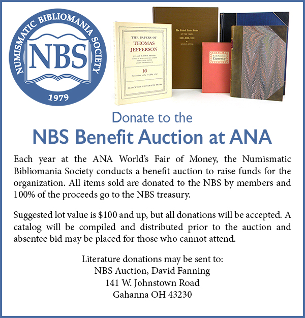 E-Sylum NBS Benefit Auction ad