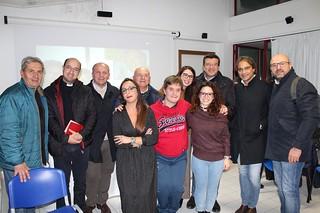 Doriana Stoppa in una foto con parte della maggioranza