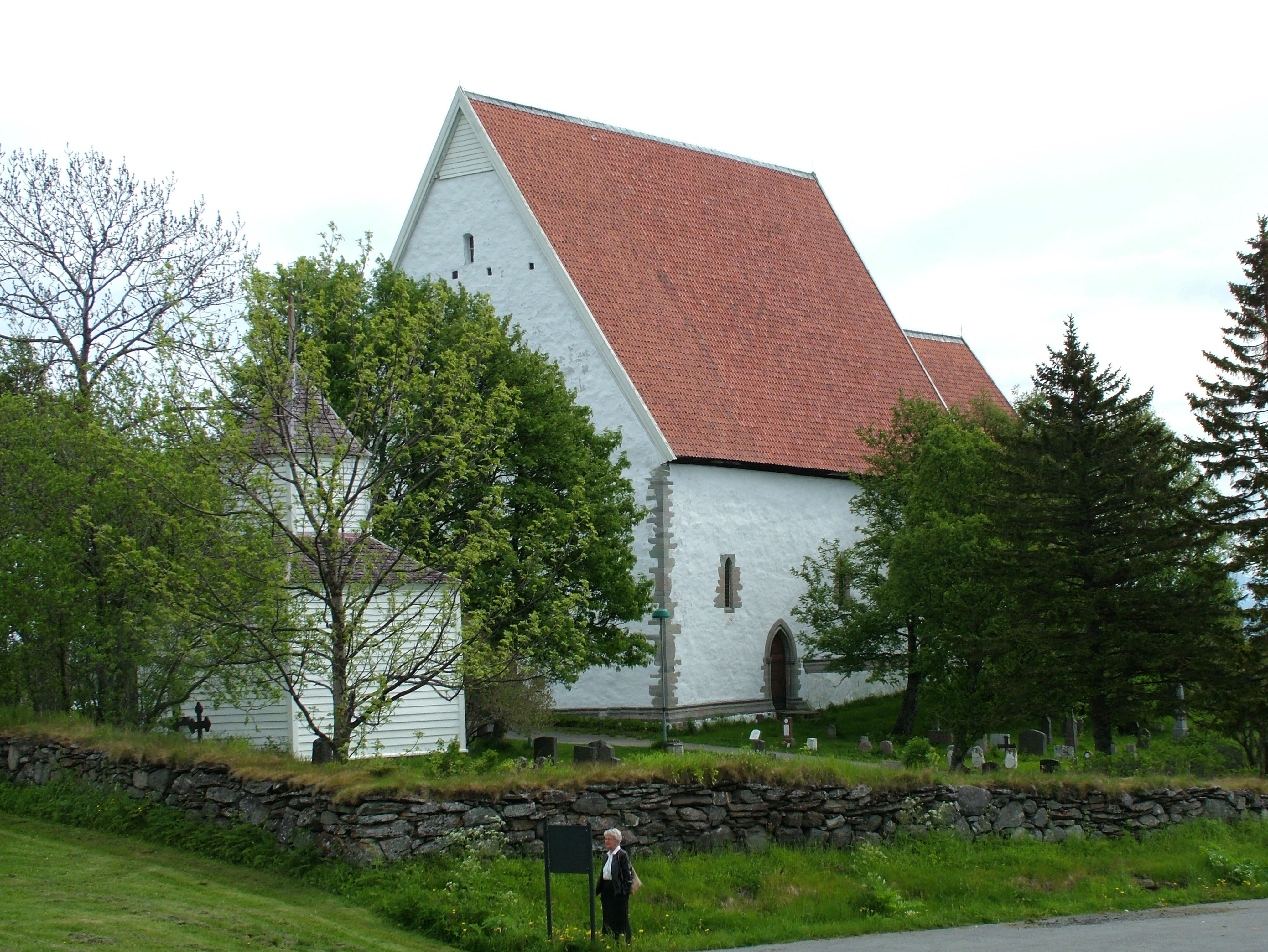 View of Trondenes Church, Norway. Photo taken on June 15, 2005.