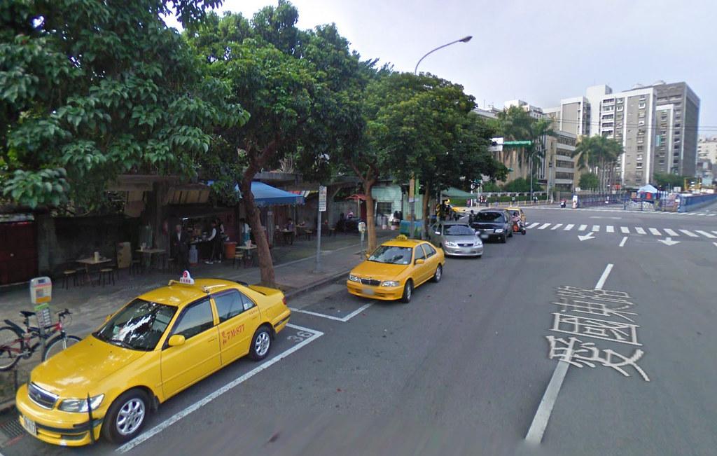 愛國東路大樹下麵攤 GoogleMap200902-2
