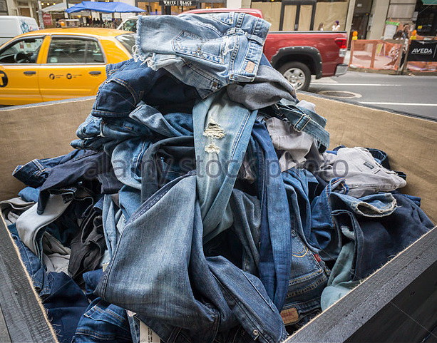 Old jeans for recycling 2