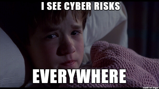 I see cyber risks everywhere meme