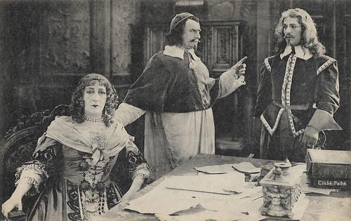 Marguerite Moreno, Jean Périer and Henri Rollan in Vingt ans après (1922)