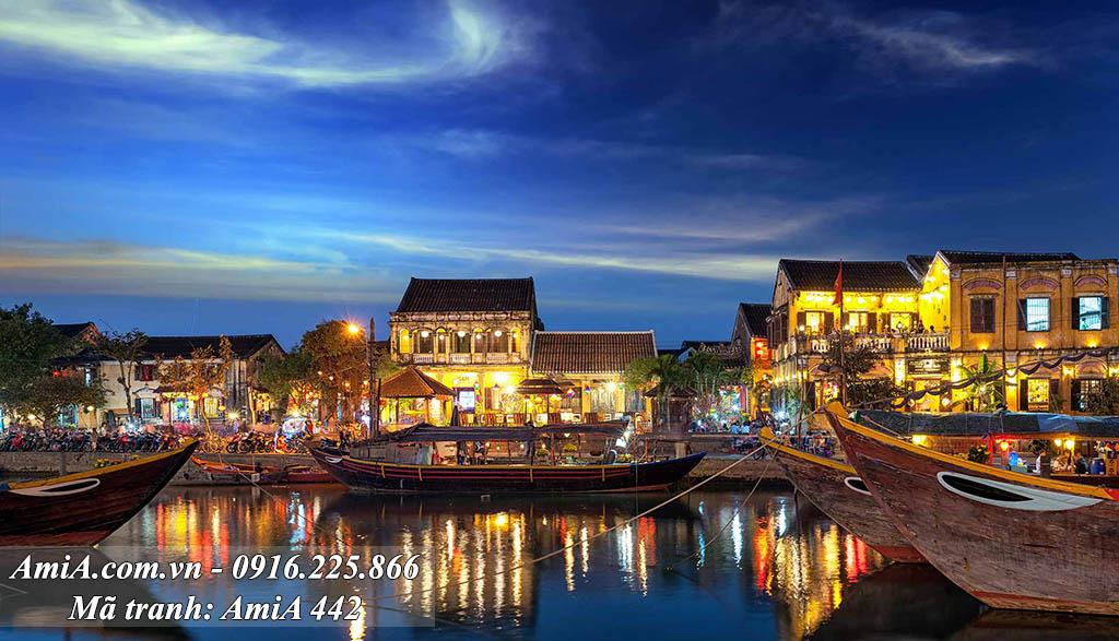 AmiA 442 - Tranh quê hương phố cổ ở Hội An Việt Nam