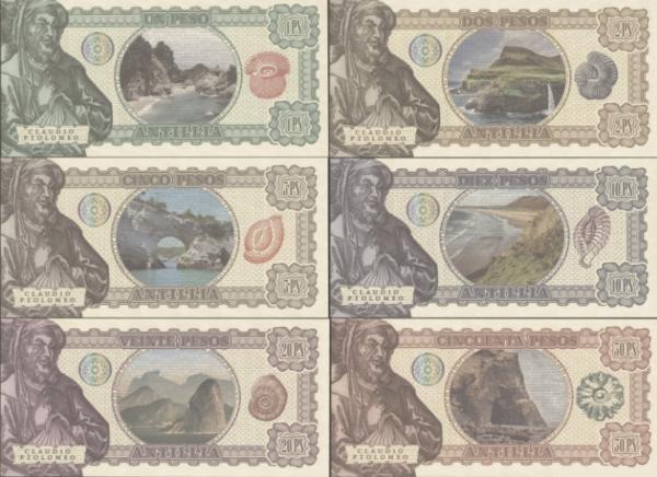Ostrov Antillia 1-50 pesos 2017