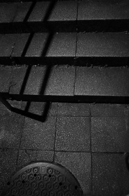 夜の石階段