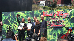 "At the 40th Anniversary Event for ""Up in Smoke"" with Cheech & Chong #420 #UpInSmoke"