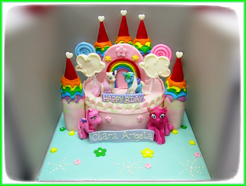 Cake My Little Pony Castle CLARA ANGELA 18 cm