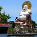 Statue of Fat laughing Chinese Buddha, Wat Plai Laem, Ko Samui by R-Gasman