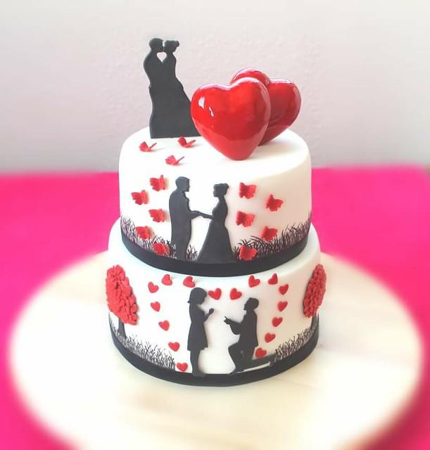 Lovers' Cake by Shilpa Mahalank Kerkar of Shilpa's Khata Rahe Mera Dil
