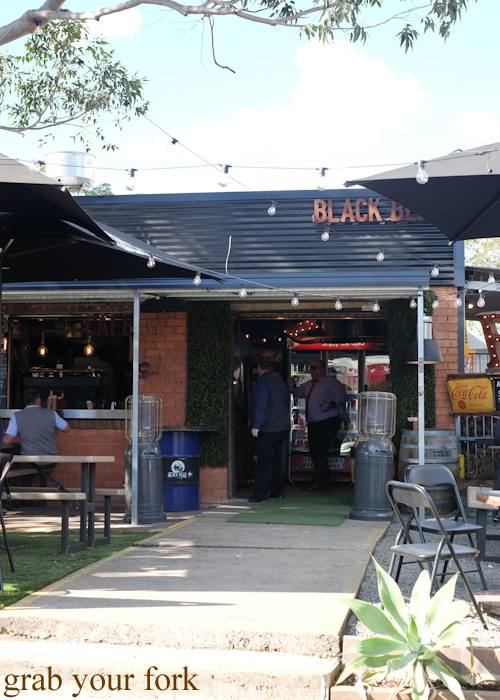 Outdoor seating at Black Bear BBQ in Blacktown Sydney