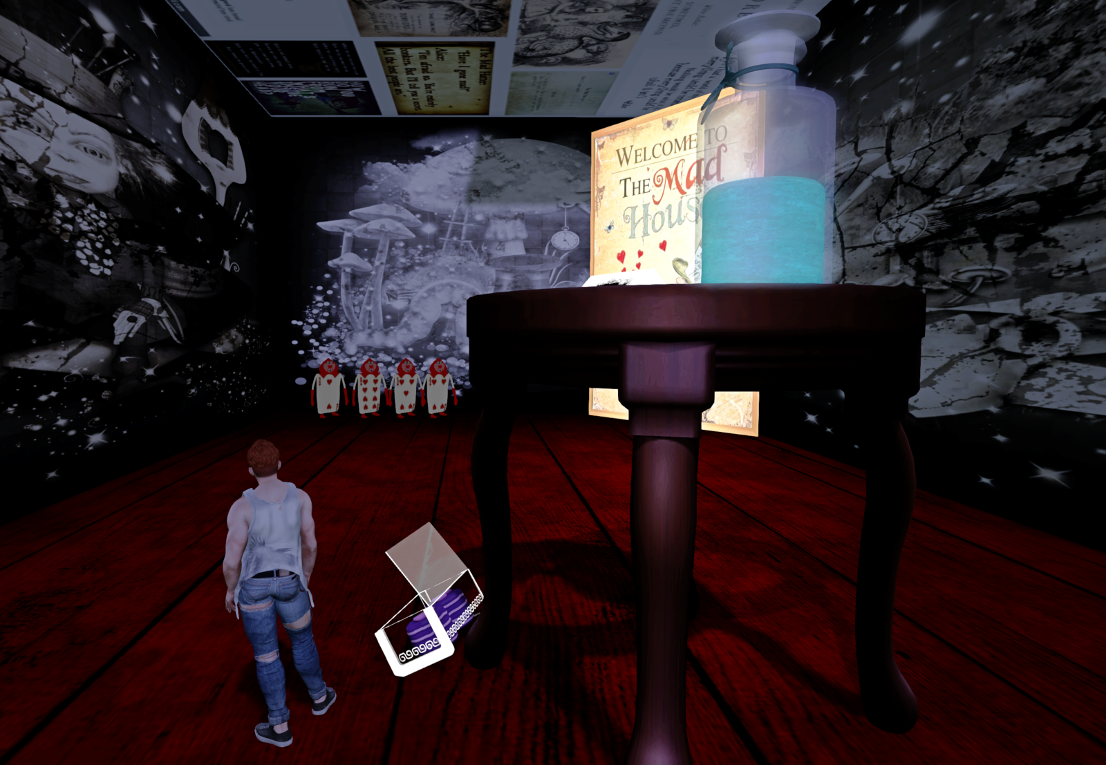 The Alice-themed escape game