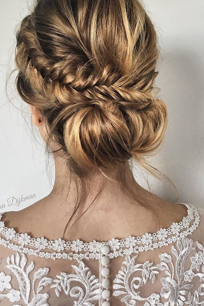 Wedding Hairstyles : long wedding hairstyles and updo #deerpearlflowers #bride #bridal #wedding #hair... -