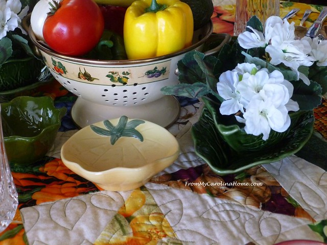 Summer Garden Tablescape at FromMyCarolinaHome.com