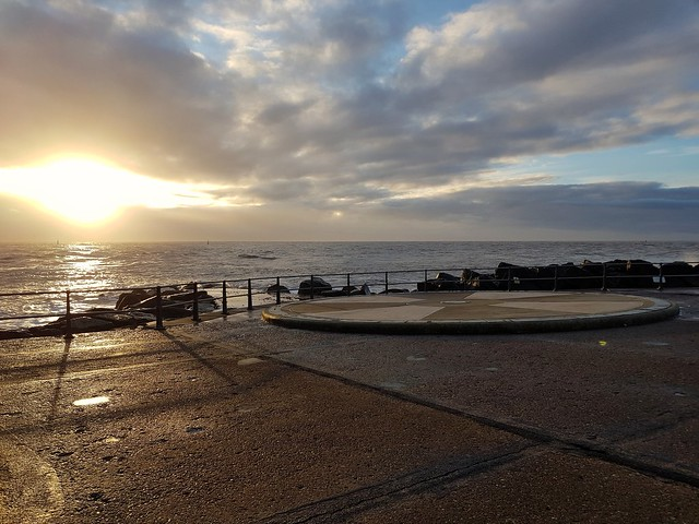 Sunrise Ness point lowestoft Suffolk  The most easterly point of the U.K.