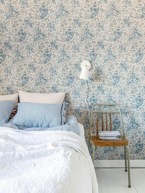 13 habitación de invitados papel original y silla tienda de pulgas