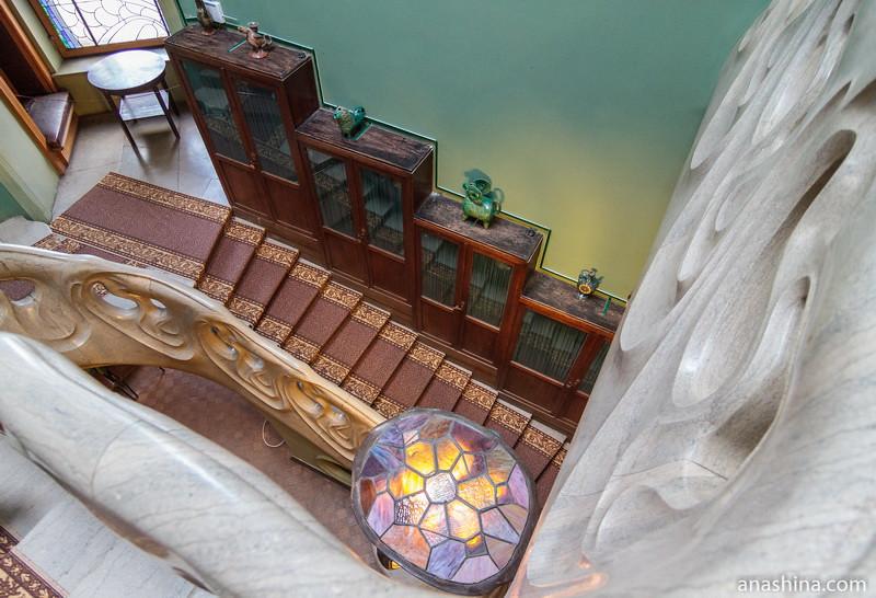 Лестница, особняк Рябушинского, Москва