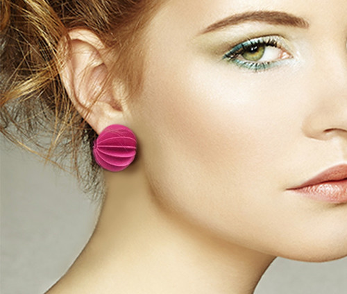 Paper Ball Earrings by Alfieri Jewel Design