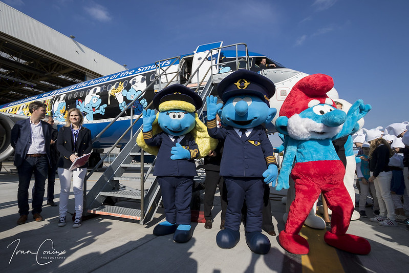 Brussels Airlines #SNSmurfs Event – Brussels Airport (BRU EBBR) – 2018 03 24 – 14 – Copyright © 2018 Ivan Coninx