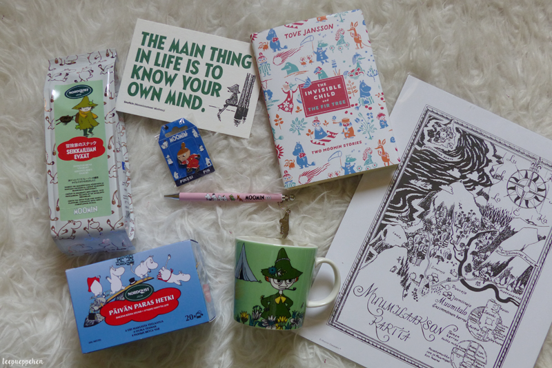 london photo haul moomin snufkin tea book pin little my