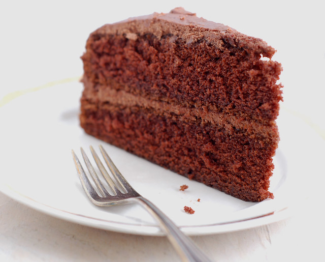 Ruth Reichl's Chocolate Cake with Chocolate Cream Cheese Frosting by Eve Fox, the Garden of Eating, copyright 2018