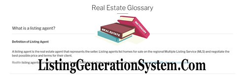 listing broker vs selling broker, listing generation system