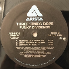 THREE TIMES DOPE:FUNKY DIVIDENS(LABEL SIDE-B)