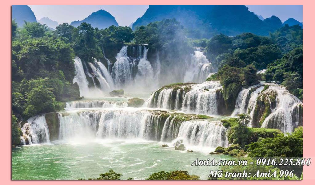 AmiA 996 - Tranh thác nước đẹp quê hương bản Giốc