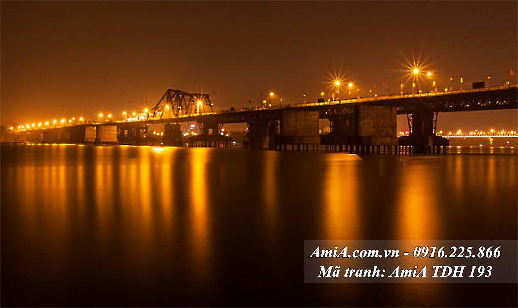 AmiA 193 - Tranh quê hương Việt Nam tưới đẹp cầu long biên lịch sử
