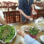 lunch with Công Family