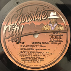 VERNON BURCH:GET UP(LABEL SIDE-A)