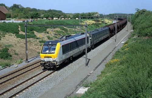 HLE 1301 + test train 98054 (Tournai - Blaton), Maubray, 8th May 1998