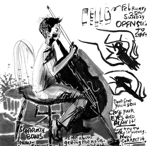 Sketchbook #112: Cello