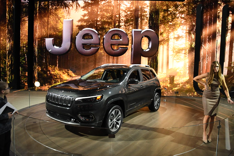 Jeep display -- 2018 North American International Auto Show
