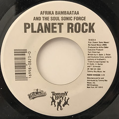 AFRIKA BAMBAATAA AND THE SOUL SONIC FORCE:PLANET ROCK(LABEL SIDE-A)