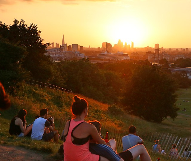 Sunset from Greenwich Park, Canon EOS 750D, Canon EF-S 18-135mm f/3.5-5.6 IS STM