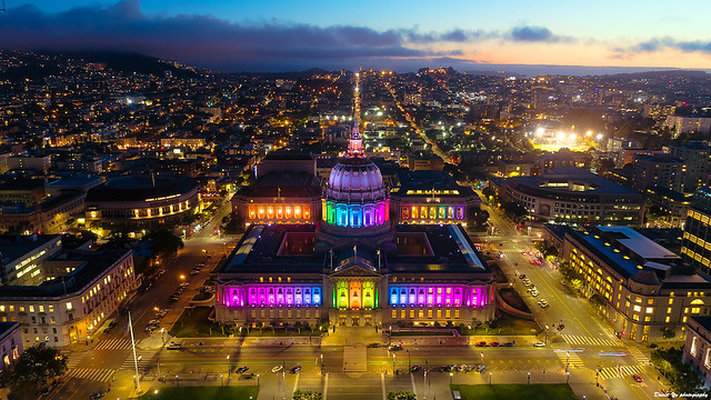 Rainbow City Hall - San Francisco