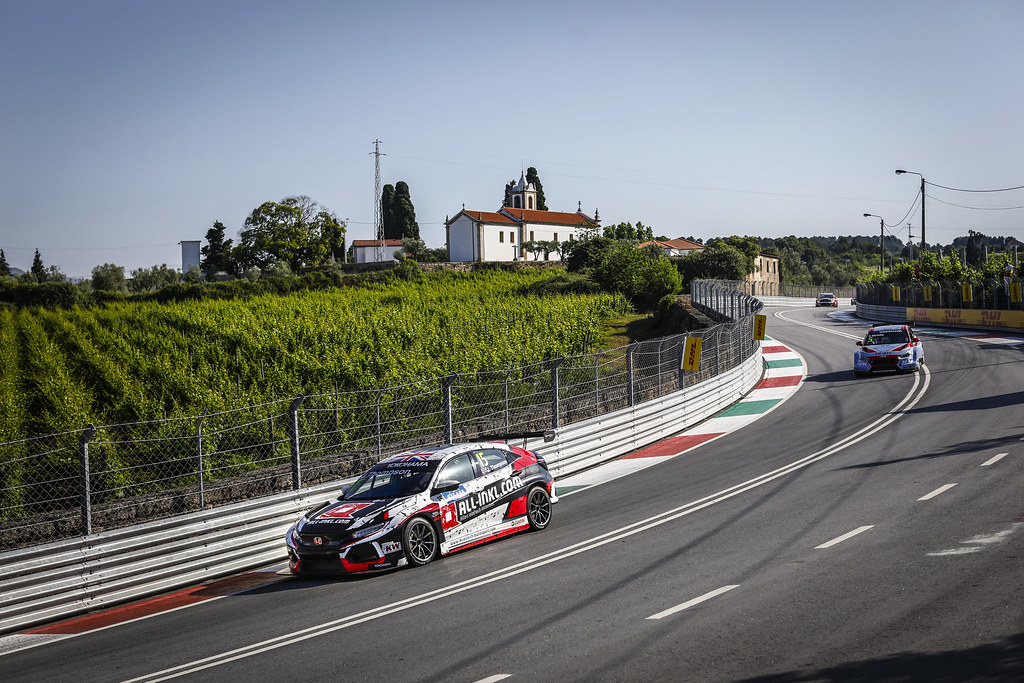 15 THOMPSON James, (gbr), Honda Civic TCR team ALL-INKL.COM Munnich Motorsport, action during the 2018 FIA WTCR World Touring Car cup of Portugal, Vila Real from june 22 to 24 - Photo Francois Flamand / DPPI