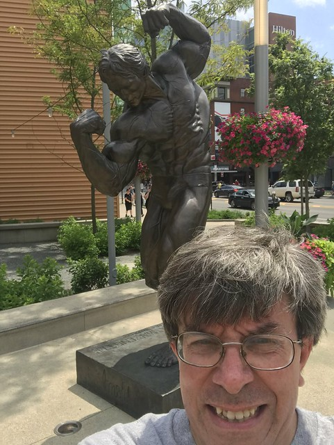 At the Arnold Swaggerer Statue