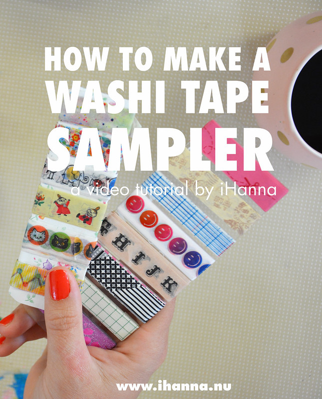 How to make a washi tape sampler, a video tutorial by iHanna (plus why you should make them and what to do with them) #washitape