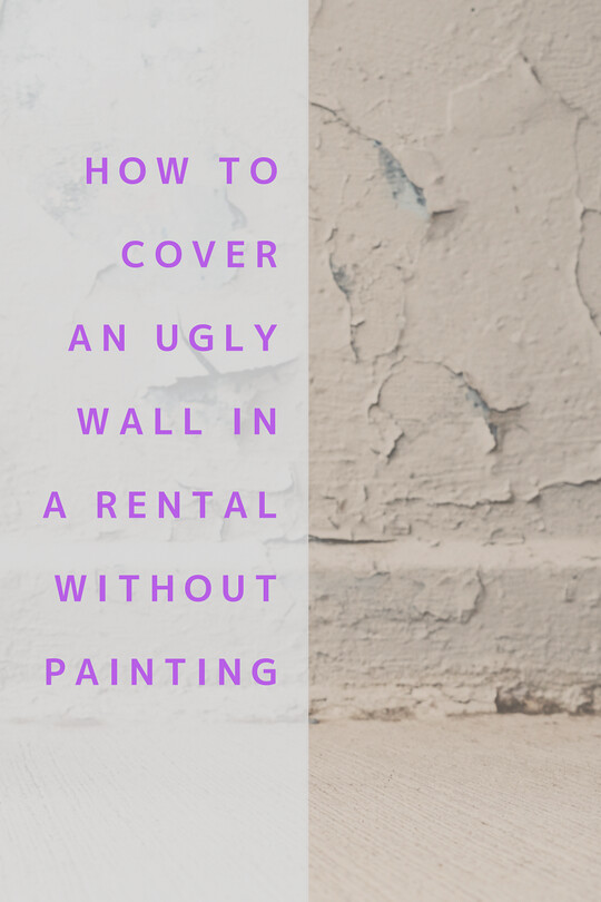 cover ugly wall rental without painting