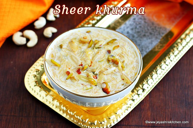Sheer-khurma recipe