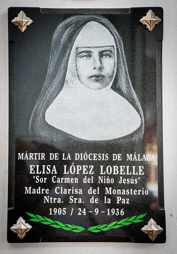 Placa mártir Elisa López Lobelle
