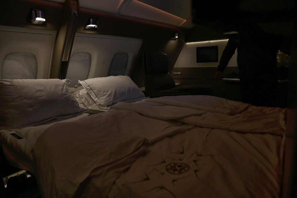 Singapore Airlines First Class Suites double bed