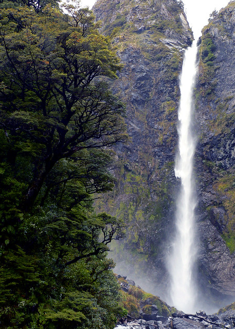 Devils Punchbowl Waterfall - South Island, New Zealand