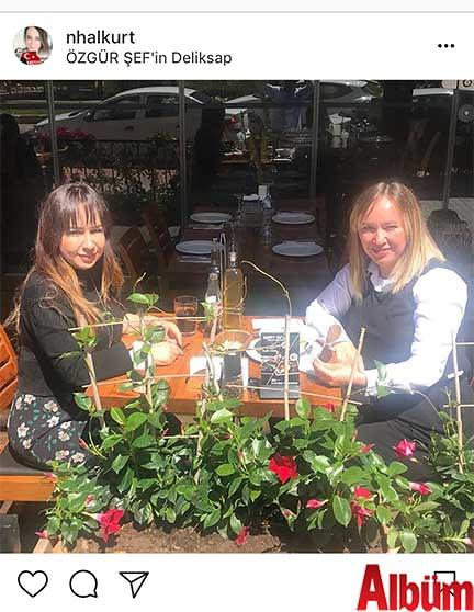 Dr. Nihal Kurt, yakın dostu Mine Karagöz ile Özgür Şef'in Deli Kasap Restoran'nda keyifli bir öğle yemeğinde buluştu.