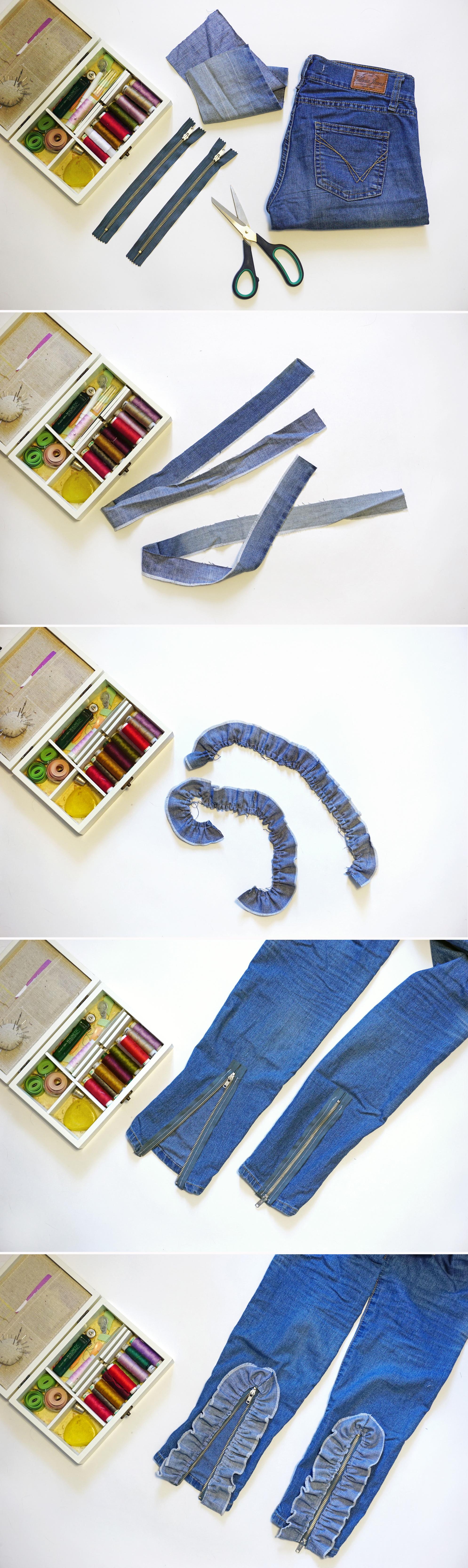 DIY: Переделываю старые джинсы