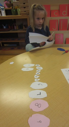 Making easter egg numbers for the parachute game