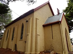 Echunga. St Mary's Anglican Church. Built in 1851. The glebe land for church and cemetery was granted by Jacob Hagen the founder of Echunga who wanted it to be  a model Quaker village.  It is still in use.